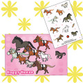 【送料無料】Happy Horse ポストカード&シールセット