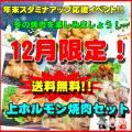 【送料無料】12月限定!秘伝の味!上ホルモン焼肉セット!