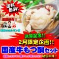 【送料無料】2月限定!決算記念企画!秘伝の国産牛もつ鍋(5~6人前)