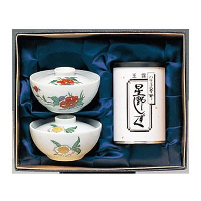 玉露 星野しずく(すすり)茶セット「牡丹」「茶花」