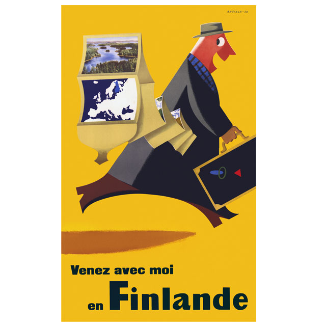 SALE! Come To Finland - カム・トゥ・フィンランド ポスターJ6