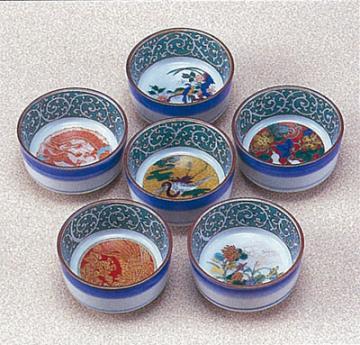 九谷焼 組盃 時代絵