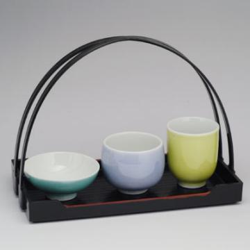九谷焼 「ちぇんじ・ド・SAKE」色釉(木箱入り)