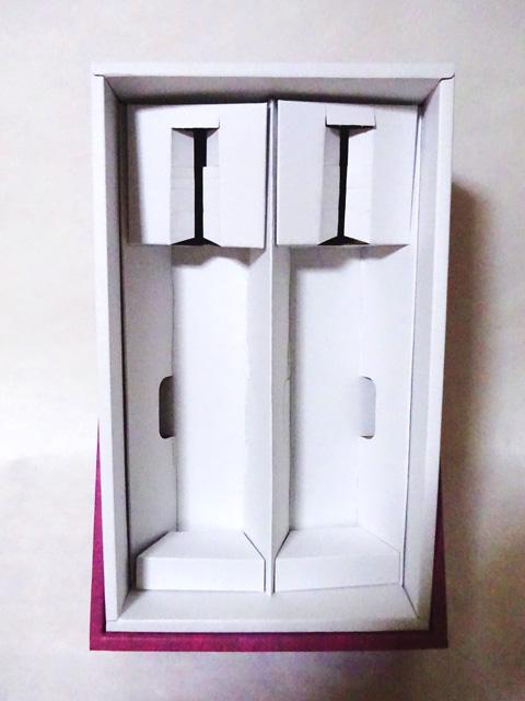 高級化粧箱 4合瓶2本用 ワインレッド