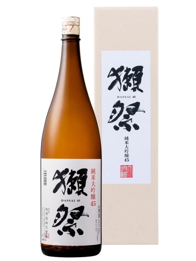 獺祭(だっさい) 純米大吟醸45 1800ml 専用カートン入り