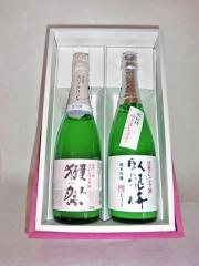 発泡にごり酒セット(獺祭・臥龍梅)720ml×2本 化粧箱入り