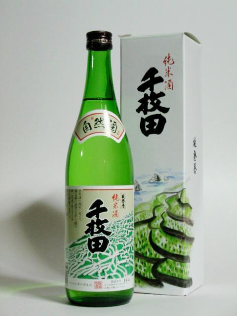 能登誉 純米酒 千枚田 720ml 化粧箱付き