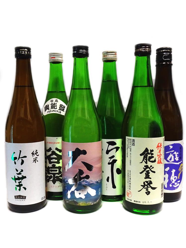 能登の純米酒6種飲み比べセット