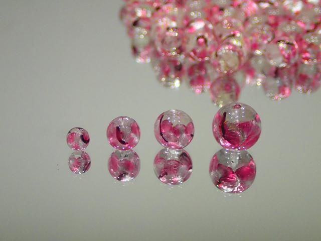 丸玉 透明・さくら 12mm玉 最安値 1個 160円~ 夜光ホタルガラス【ネコポス便可】