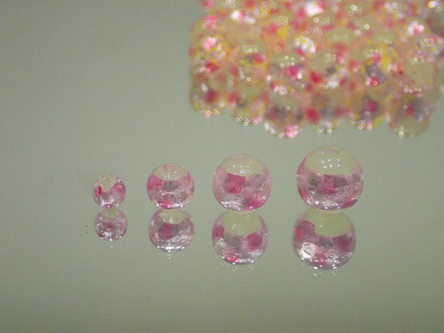 丸玉 白・ピンク 12mm玉 最安値 1個 160円~ 夜光ホタルガラス【ネコポス便可】