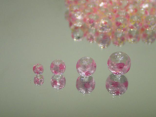 丸玉 透明・ピンク 12mm玉 最安値 1個 160円~ 夜光ホタルガラス【ネコポス便可】