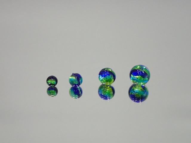 丸玉 イエローブルー 【新色】 6mm玉 最安値 1個 175円~ 夜光ホタルガラス【ネコポス便可】