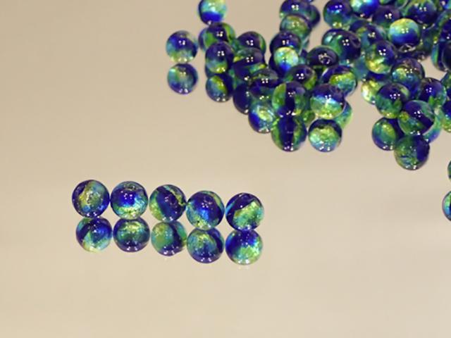 丸玉 イエローブルー【新色】 8mm玉 最安値 1個 170円~ 夜光ホタルガラス【ネコポス便可】