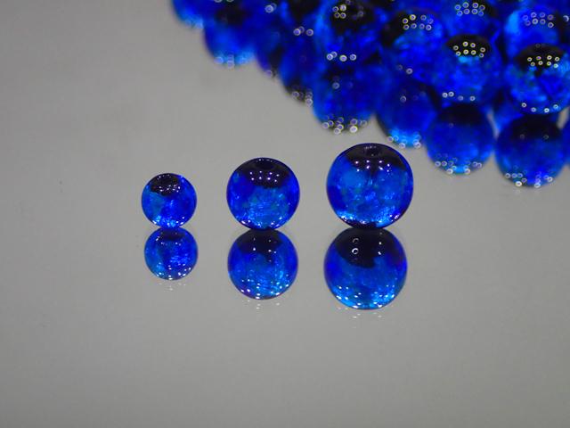 片穴丸玉 黒・スーパーブルー 6mm玉 最安値 1個 155円~ 夜光ホタルガラス【ネコポス便可】