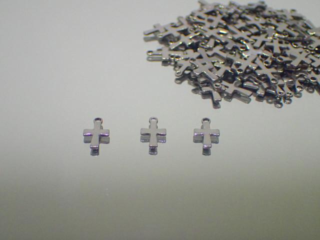 ステンレス316L チャーム(十字架) ◇◇8mm×10mm◇◇ 最安値 1個 約11.4円~ 副資材【ネコポス便可】