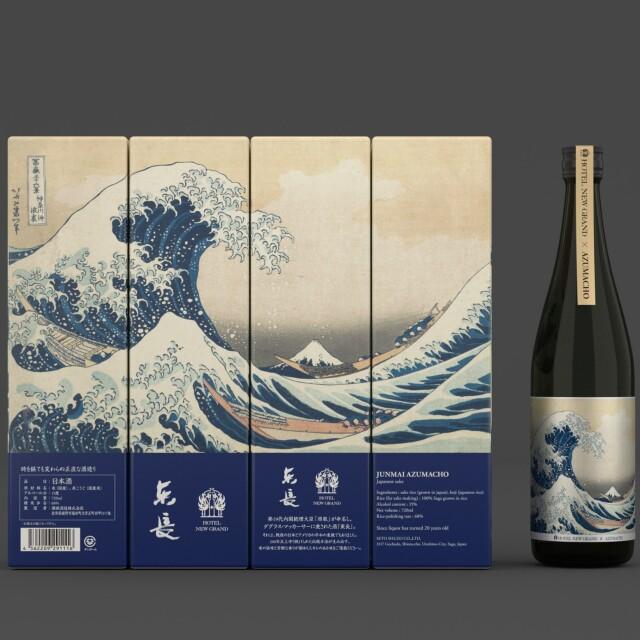 【4本で1つの絵が完成◆BARシーガーディアンのコースター付き】日本酒 純米東長(あずまちょう)オリジナルパッケージ4本セット