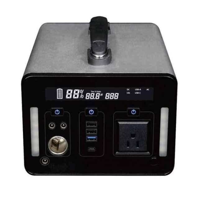ポータブル電源 ポータブル蓄電池 1000W AC DC USBの3WAY出力 301600mAh エスケイジャパン SKJ-MT1000SB