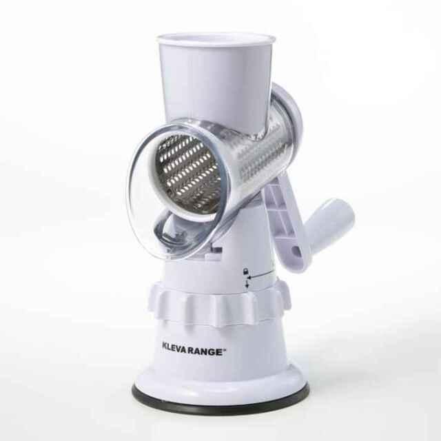 【即納】クレバースライサー ハンドルを回すだけ 電源不要 細切り すりおろし スライス 時短 調理 スライサー お手入れ簡単 キッチン 便利 KLEBA RANGE KS-A3