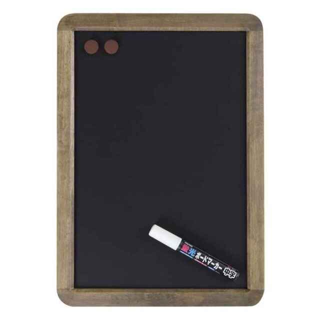 アンティークブラックボード A3サイズ つや消し仕上げ 筆記面サイズW250×H370mm Raymay LNB285