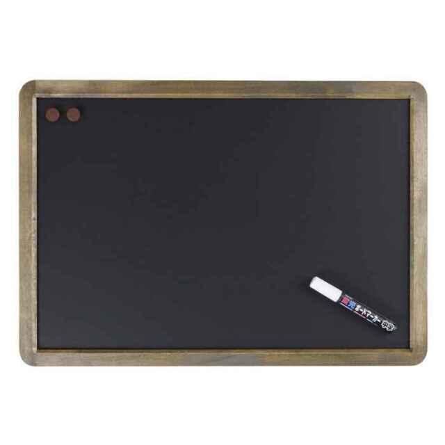 アンティークブラックボード A2サイズ つや消し仕上げ 筆記面サイズW550×H370mm Raymay LNB385