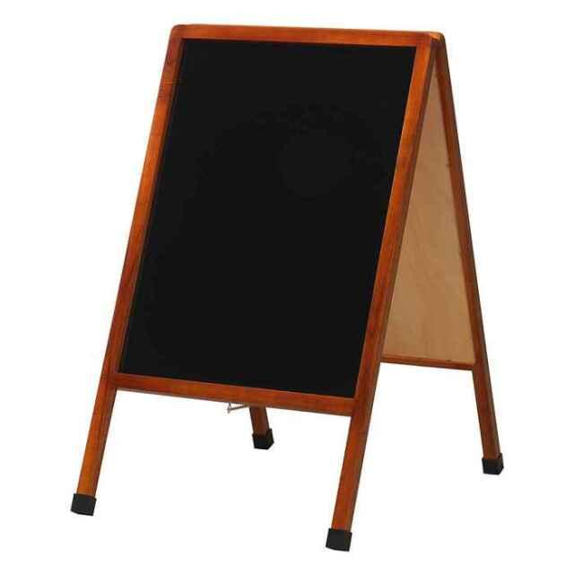 アンティーク A型 ブラックボード(中) 脚付き 筆記面サイズW440×H590mm Raymay LNB900