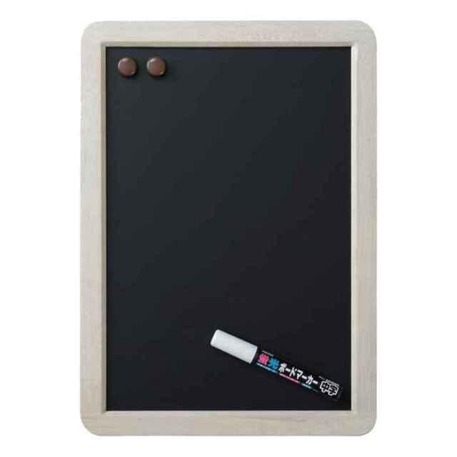 アンティークブラックボード A3サイズ ホワイト仕上げ つや消し仕上げ 筆記面サイズW250×H370mm Raymay LNB288