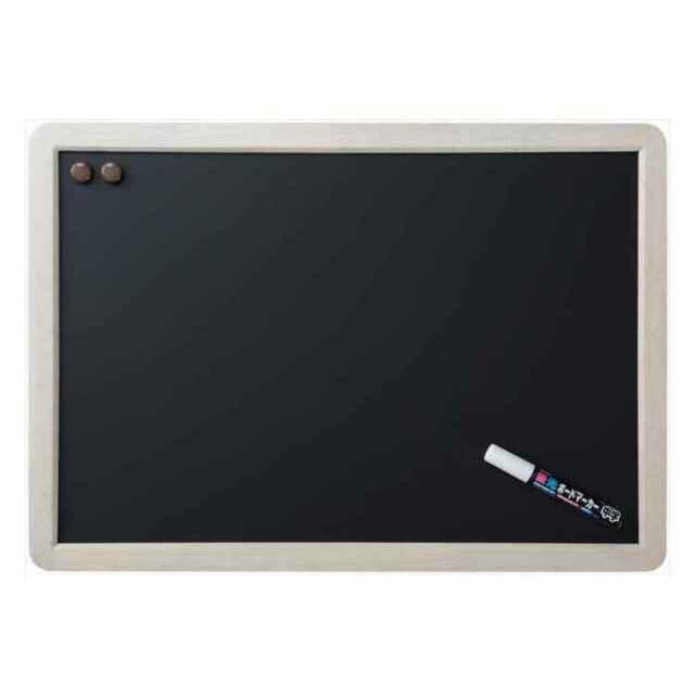 アンティークブラックボード A2サイズ ホワイト仕上げ つや消し仕上げ 筆記面サイズW550×H370mm Raymay LNB388