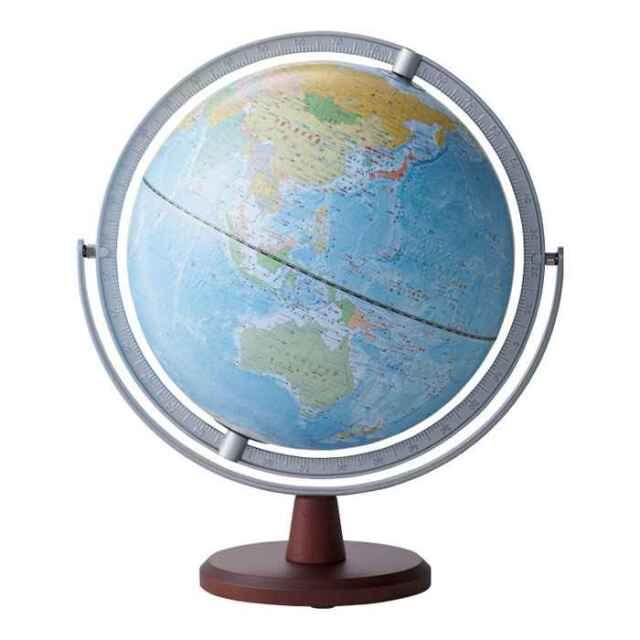 【即納】地球儀 リビング地球儀 全回転 球径25cm 行政タイプ インテリアに馴染みやすい配色 見やすいUDフォント レイメイ藤井 OYV256