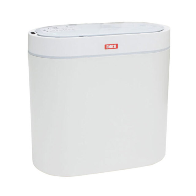 センサー式ゴミ箱 ごみ箱 7L 非接触 清潔 センサー 自動開閉 防水タイプ 防水 IPX5 生活防水 トイレ 洗面所 キッチン 水回り Daito DST-7