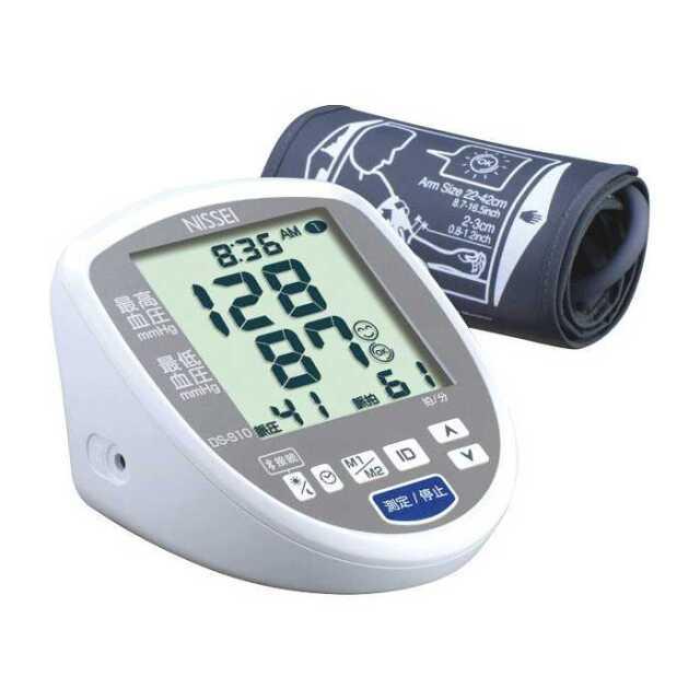 【即納】血圧計 大画面 上腕式 デジタル血圧計 スマホで健康管理 無料の専用アプリ HealStyle対応 ESH合格品 NISSEI  日本精密測器 DS-S10