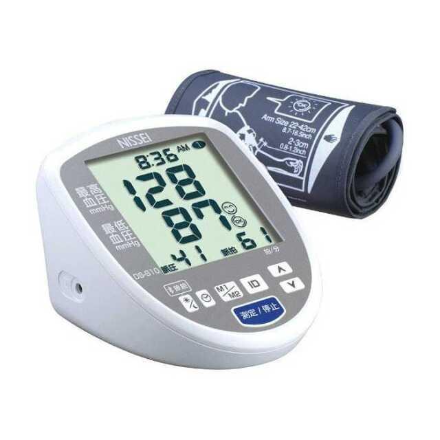 血圧計 大画面 上腕式 デジタル血圧計 腕に優しい加圧しながらの測定 ESH合格品 NISSEI  日本精密測器 DS-G10J