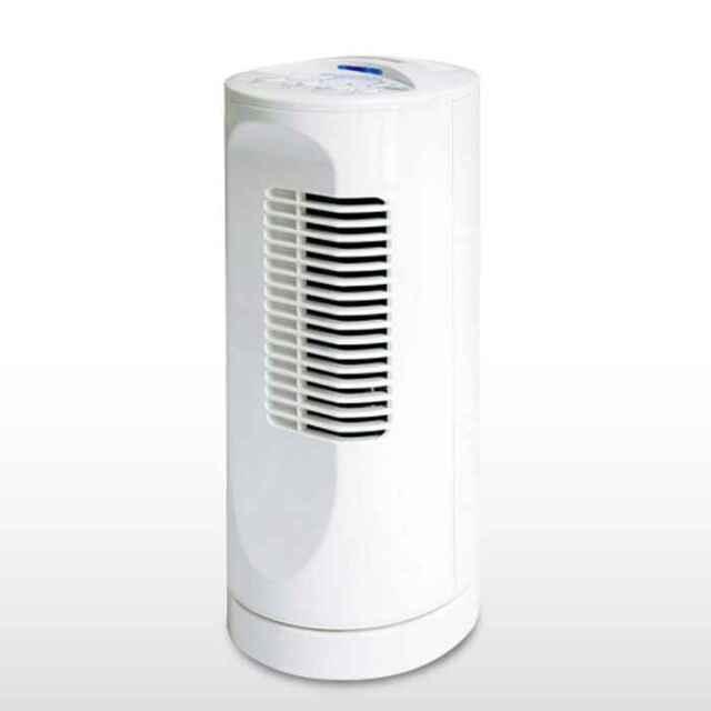扇風機 卓上扇風機 ミニタワー型 テクノイオン搭載 消臭 除菌 コンパクト タワーファン デスクワーク ホワイト テクノス MI-106