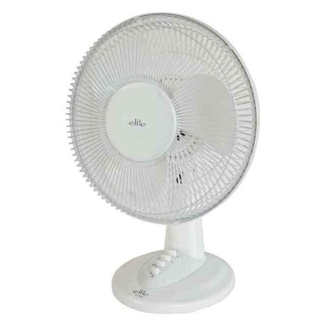 扇風機 卓上扇風機 elite お座敷扇風機 コンパクトサイズ ファン 30cm羽根 風量調節3段階 首振り ホワイト テクノス KI-1000