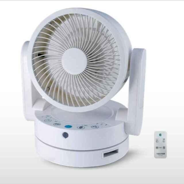 サーキュレーター 扇風機 フルリモコン 18cm3枚羽根 ソフトタッチ風量3段階切替 上下左右首振り式 ホワイト テクノス SAK-260W