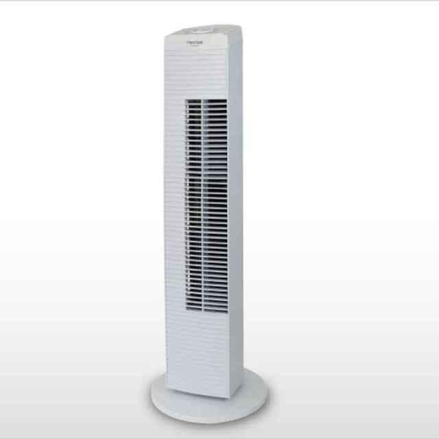 【即納】扇風機 タワー型 メカ式 風量調節3段階 首振り スタイリッシュなタワー型扇風機 ホワイト テクノス TF-820(W)