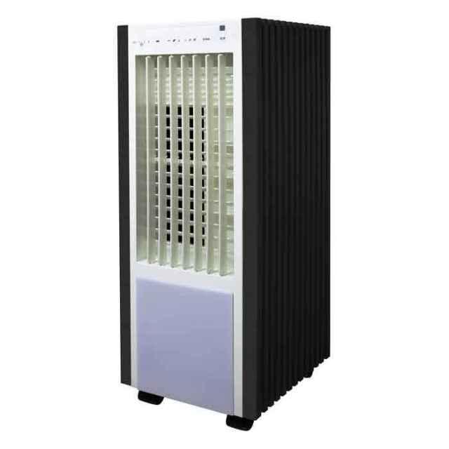 扇風機 冷風扇 テクノイオン搭載 リモコン 冷風扇風機 打ち水効果で自然な涼風を ホワイト×ブラック テクノス TCI-050