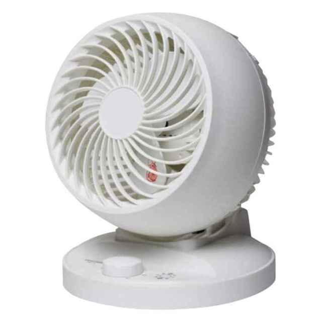 サーキュレーター 扇風機 メカ式 15cm3枚羽根 風量3段階切替 上下角度調節 ホワイト テクノス SAK-13