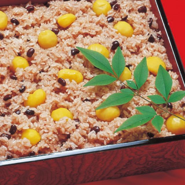 寿楽祭栗赤飯