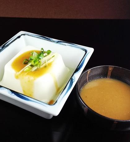 ごまだれつゆ・豆腐