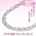 アコヤ真珠 ケシ ネックレス シルバーホワイトカラー 5.0-6.5mm