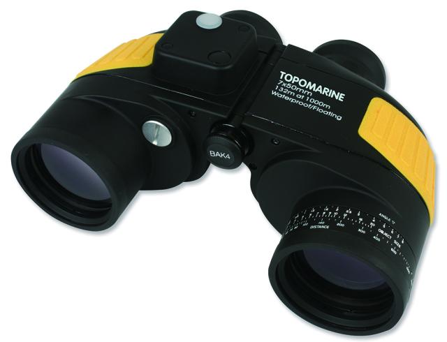 TOPOMARINEコンパス付き双眼鏡 7×50mmφ