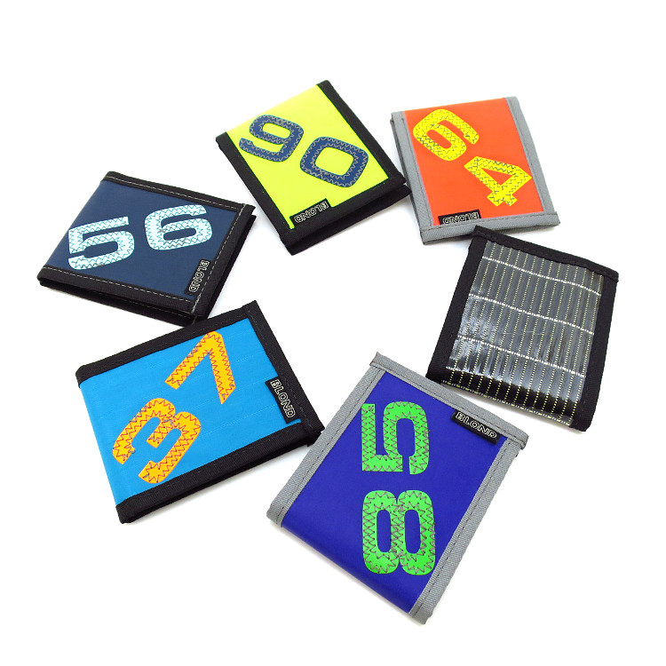 【BLOND】二つ折り財布 S セイル素材