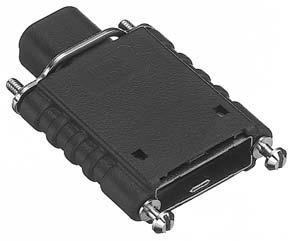 HDR-E14LPHD+/スプリングロック受け金具付き中継用プラスチック縦型ケース(細線用)【ROHS】