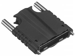 HDR-E26LPM+/スクリューロックタイプEMI対策プラスティック縦形ケース【ROHS】