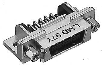 PCR-E50LMD-SL+/基板用ライトアングル・ディップタイプ雄コネクタ(スクリューロックねじ付き)【ROHS】