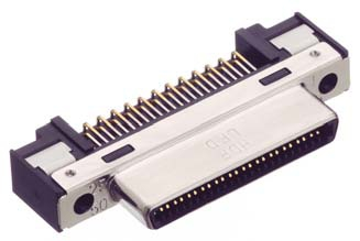 HDR-EC50LFDT-SLG+/基板用ライトアングル・ディップタイプ雌コネクタ【ROHS】