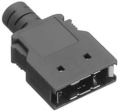 HDR-E26LPA/標準及び細線用EMI対策プラスチック縦形ケース【ROHS】