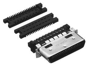 HDRA-E36MA+/ケーブル用雄コネクタ 両面圧接【ROHS】