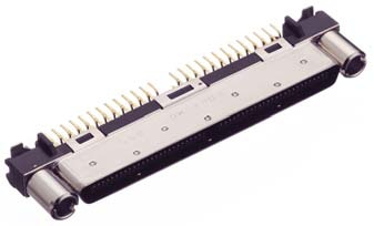 HDRA-EC100MDT-GP+/基板用ストレート・ディップタイプ雄コネクタ【ROHS】