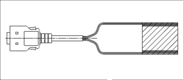 HDR50N3A500/HDR50芯片端雄コネクタハーネス(スプリングロック・プラスチックケース)
